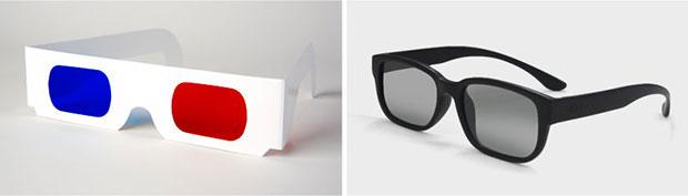 Shutterbrillen für die Darstellung von 3D-Filmen und stereoskopen Bildern