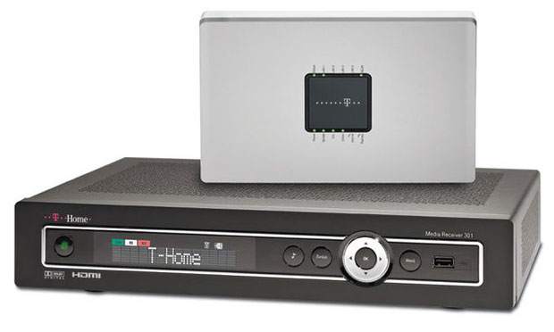 VDSL-Technik mit dem Telekom VDSL 50 Modem und Set Top Box